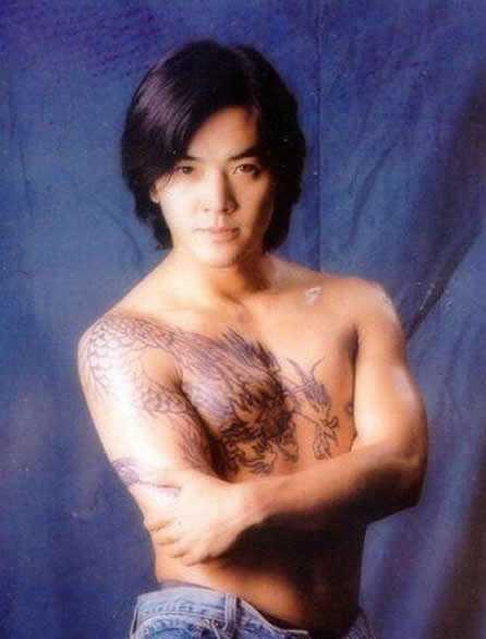 陈浩南纹身过肩龙图片 郑伊健古惑仔陈浩南过肩龙纹身